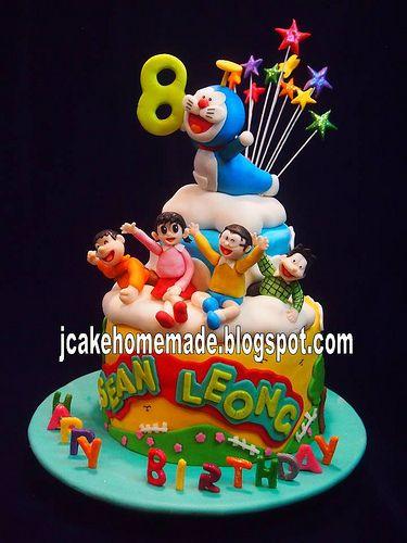 Doremon Cake For Birthday 25 Doraemon Themed Cakes Random Food Designs