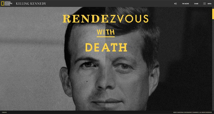 Such an amazing and impactful website, highly recommend going through all the way until the end.  http://kennedyandoswald.com/#!/rendezvous-with-death-title-screen