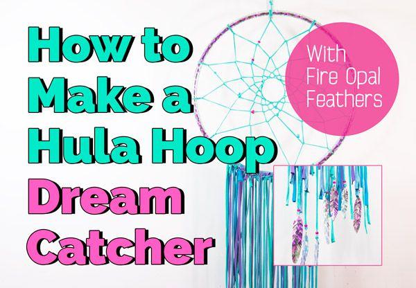 How to Make a Hula Hoop Dream Catcher | DIY Video Tutorial http://hooplovers.tv/diy-hulahoop-dreamcatcher/