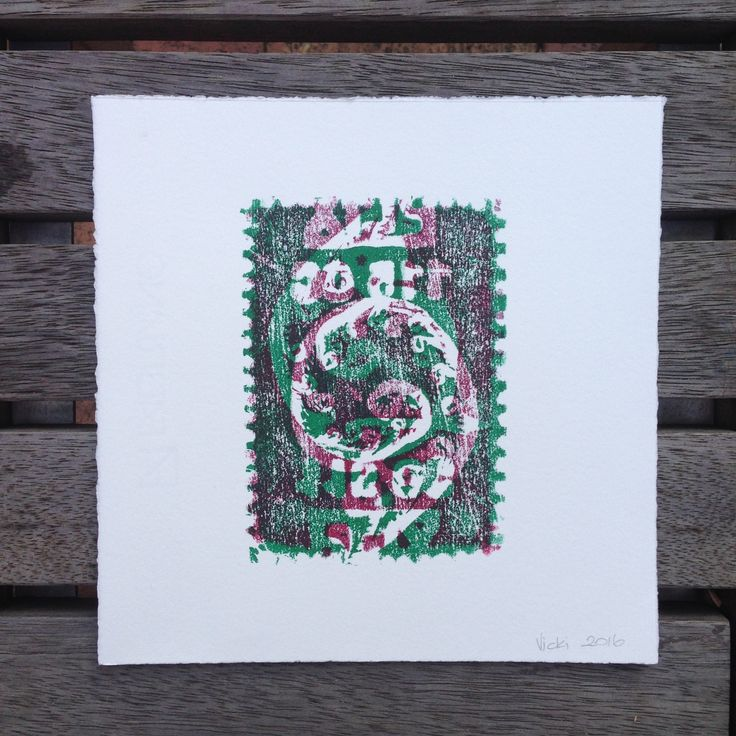 My print from #levelplayingfield facilitated by the wonderful Sheena Mathieson, Melbourne artist. Red and green ink.