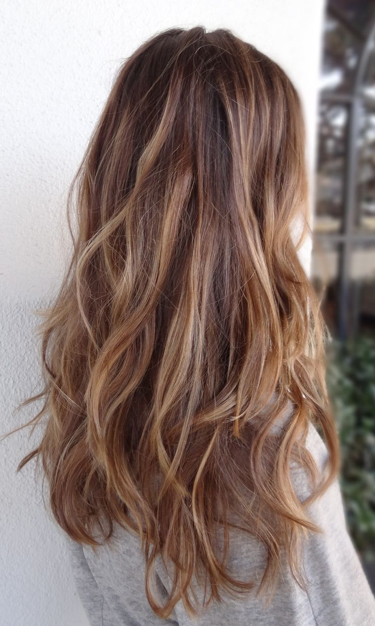 Gorgeous caramel colored hair