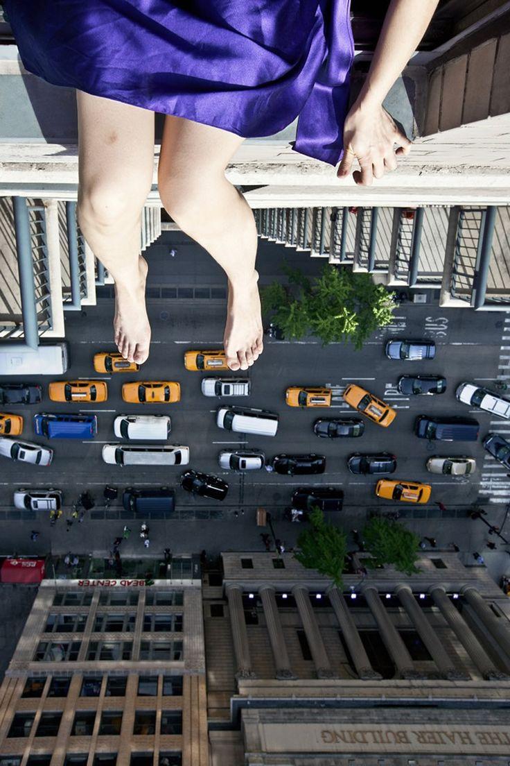 Photographer Jun Ahn walks the tightrope between fearlessness and vulnerability... http://www.we-heart.com/2014/08/06/jun-ahn-self-portrait-at-chrisophe-guye-galerie-zurich/