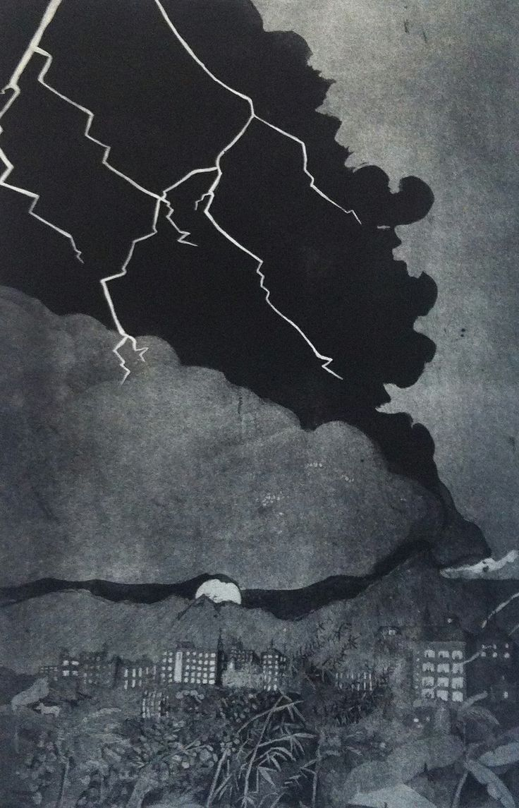 Samia Singh (India) Here it Comes - Behold 70 x100 cm Etching 2013