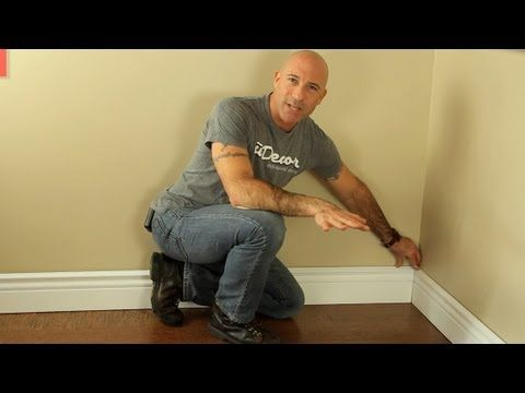 How to install baseboard molding (inside corners, both mitered and coped), very good video