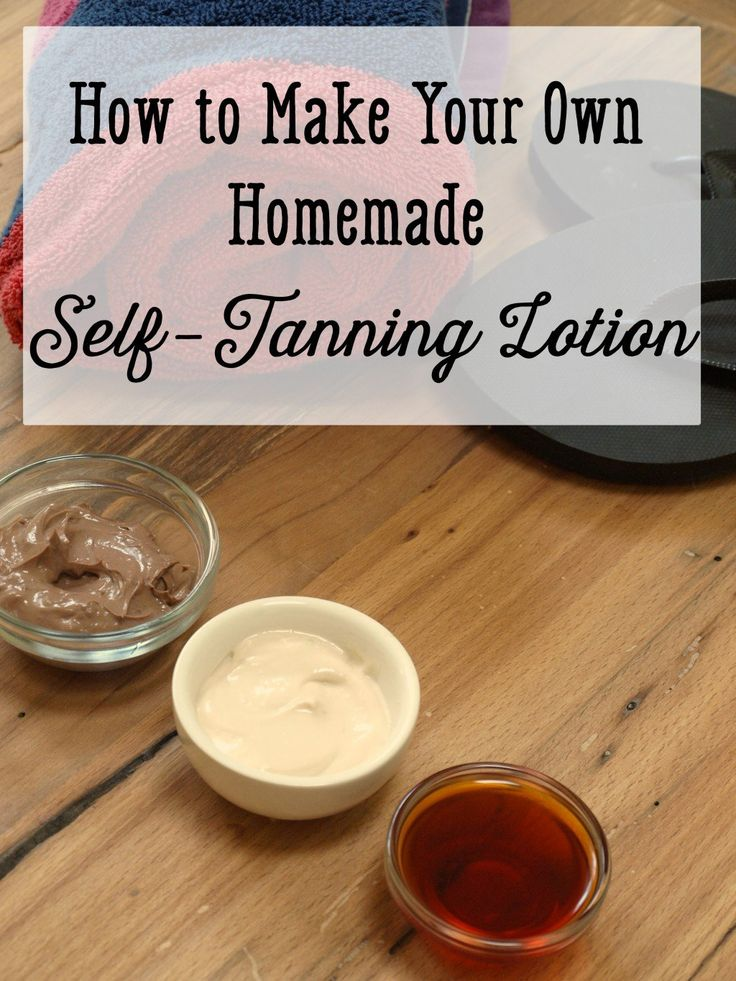 Learn how to make homemade sunless tanning solution. There are many different recipes. No harsh chemicals, no funny smells.