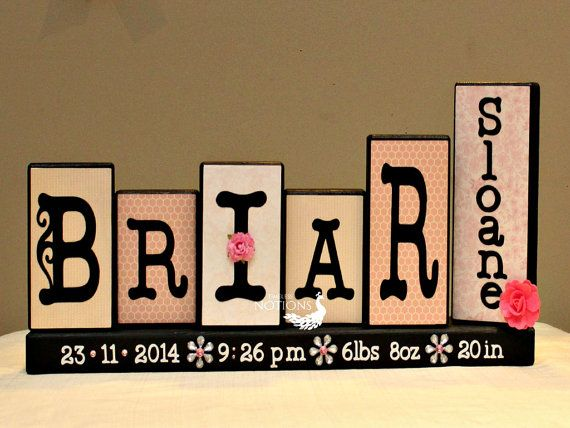 54 best unique names images on pinterest babies stuff character baby blocks wooden name blocks birth announcement baby keepsake unique baby shower gift 5 letters first and middle name sign negle Image collections