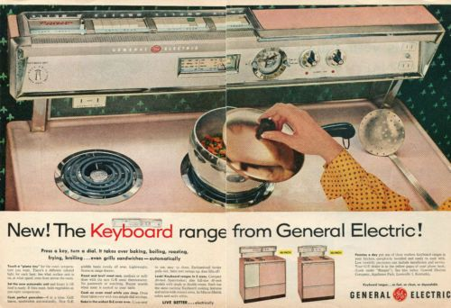 1957-2-Page-Print-Ad-of-GE-General-Electric-Keyboard-Range-Electric-Oven