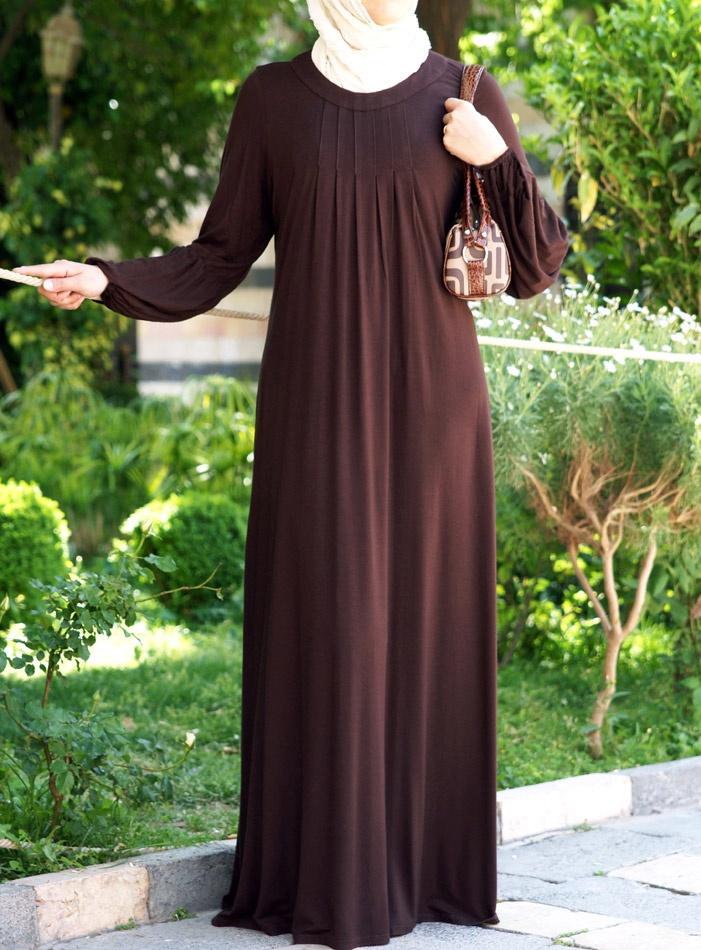 SHUKR USA   Jersey Pleated Abaya
