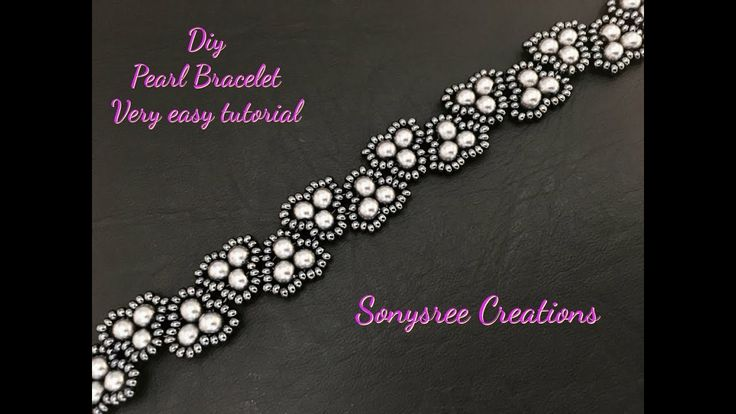 Elegant Pearl Bracelet.Super Easy Tutorial