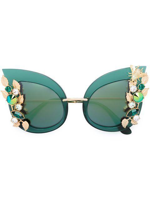 Dolce & Gabbana Lunettes De Soleil À Ornements - Stefania Mode - Farfetch.com