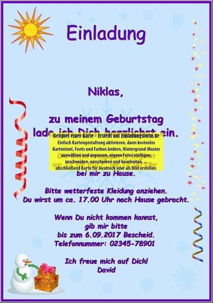 Kindergeburtstag Einladungen Zum Ausdrucken Kostenlos