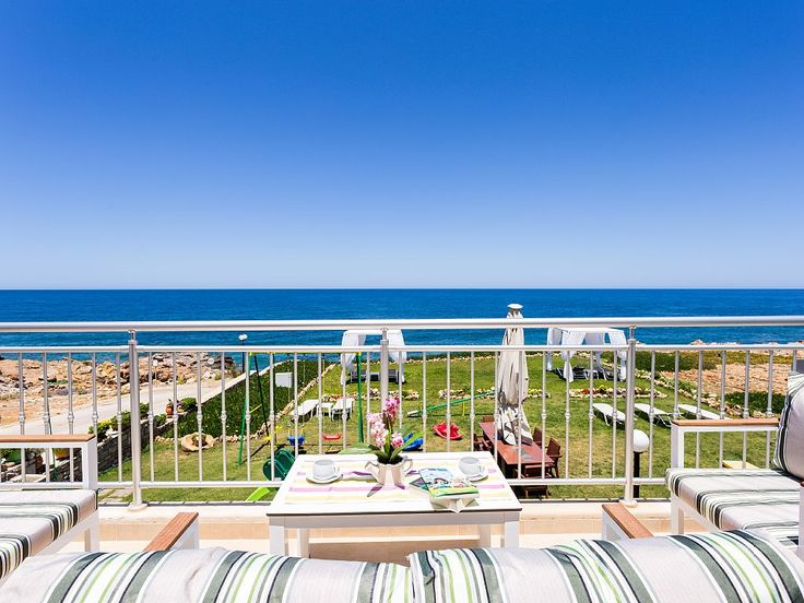 Panormos house rental - Great sea views from the balcony.