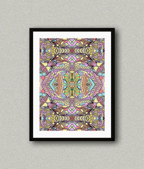 C004 Abstract art print Art poster Modern art by WhitePaperArt