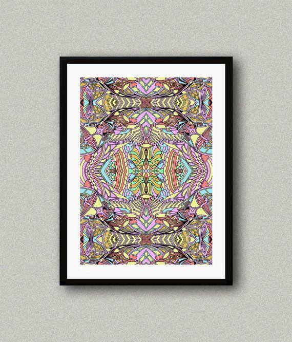 C004 Abstract art print Art poster Modern art by WhitePaperArt
