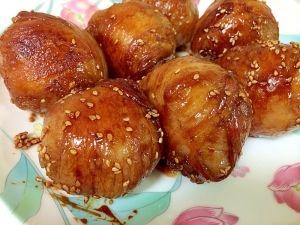 「豚バラで肉巻きおにぎり♪」余ったご飯で簡単に作れる‼︎簡単レシピ【楽天レシピ】