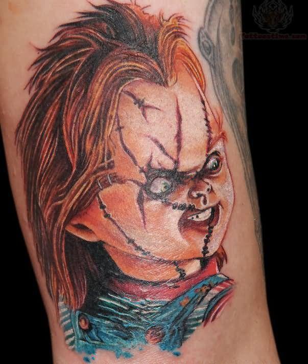 Seed of chucky tattoos chucky doll tattoos color chucky for Bride of chucky tattoo