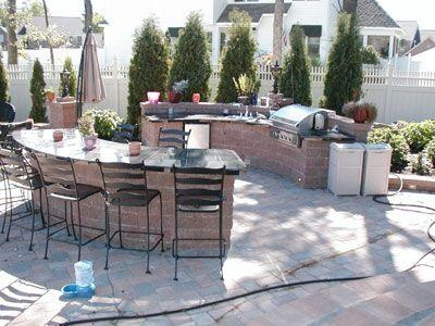 bar and grill area a great space for a backyard tracy backyards s