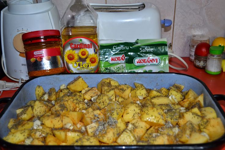 Cartofi la cuptor cu ceafa de porc marinata - Bioretete - 2E-prod-Uleiuri presate la rece de nuca,dovleac...