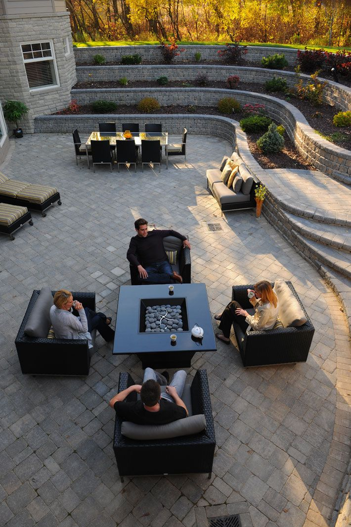 Sunken back yard idea::