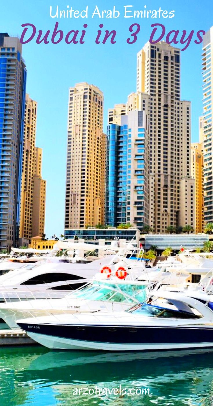 Things to see and do in Dubai in 3 days: or how to squeeze all in 2 days.