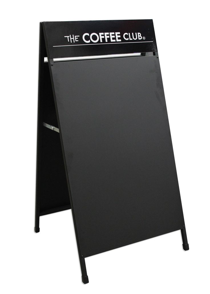Why not get a Cafe A-Frame with a Sticker on the top and a useable Black Board below! It's perfect for an ever changing menu or message for the front of your Cafe or Restaurant! Call Star Outdoor on 1300 721 877 or visit their website at www.staroutdoor.com.au
