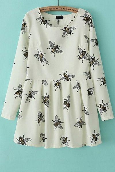 Sweet Honeybee A-line Dress OASAP.com