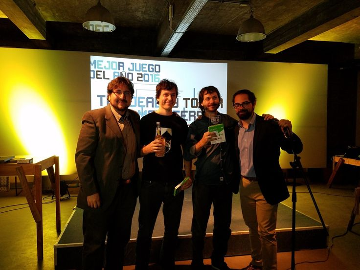 'The Deadly Tower of Monsters' wins best Console/PC and GOTY at the Chilean Checkpoint 2017 videogames event. We're honored!  Carlos and Andres Bordeu receiving the awards given out by VideoGames Chile. Happy to get this recognition from our peers.  #TheDeadlyTowerOfMonsters #ACETeam #VideoGames #VideoGame #Gaming #GameDev #IndieDev #IndieGames #IndieGame #PCGames #PCGame #Steam #PlayStation4 #PS4 #ActionGames #Atlus #AtlusUSA #AtlusGames #SciFi #ScienceFiction #BMovie   #GOTY #GameAwards