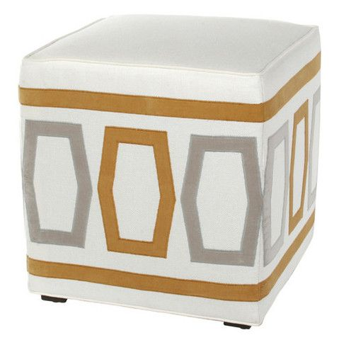 Betsy Mod Honeycomb Pouf Ottoman