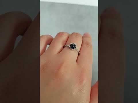 (1) Rose Cut Black Diamond Ring - Micro Pave Diamond Band - Choose Your Setting - YouTube