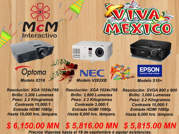 Fiesta mexicana de proyectores.