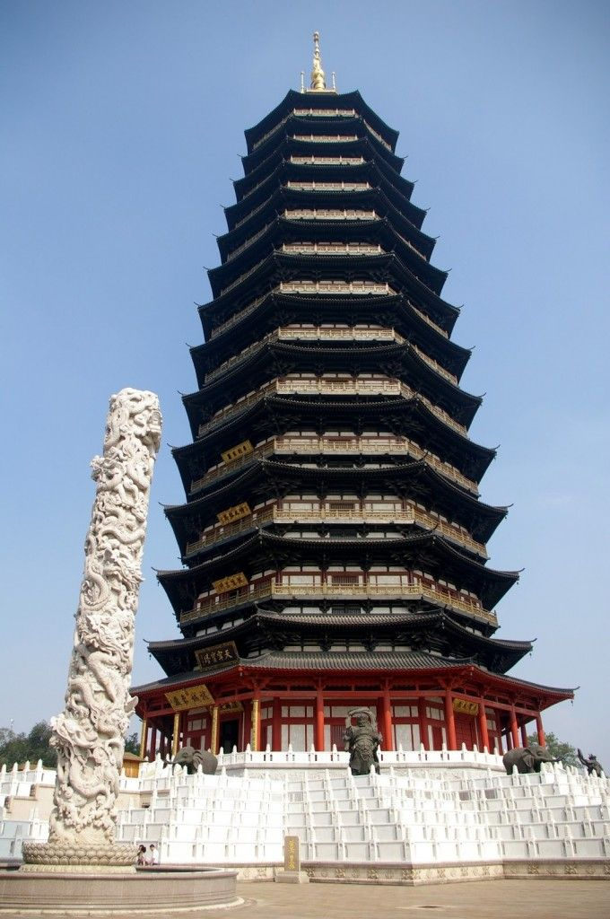 Traditional Chinese Architecture - Ancient Buildings - Tianning Temple at Changzhou City in Jiangsu Province - china