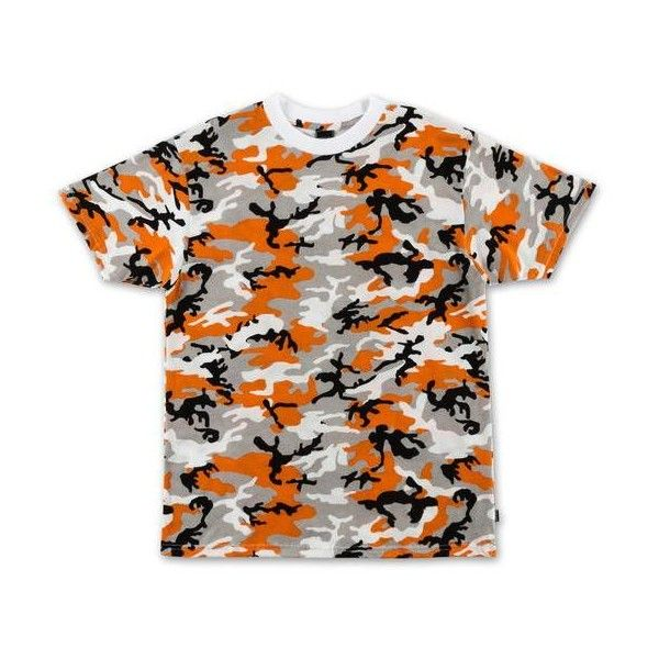 Camo Crop Top Orange ($25) ❤ liked on Polyvore featuring tops, camo print top, camo crop tops, orange top, orange crop top and camouflage top
