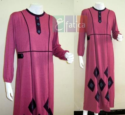 Gamis Kaos Prisma Pink