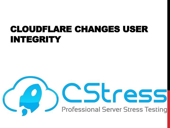 Cloudflare Changes User Integrity Stress tests