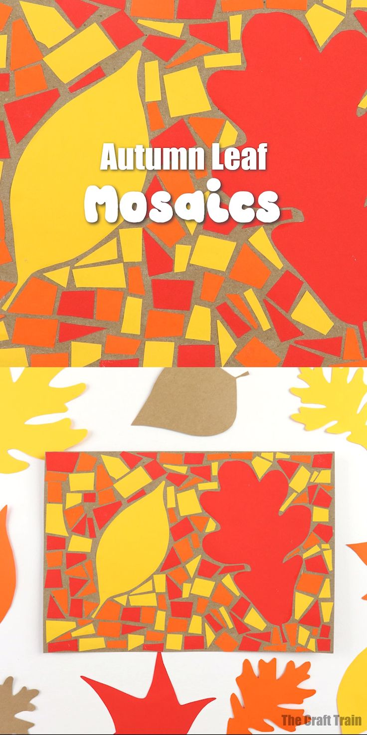 Paper mosaic Autumn art project This paper mosaic is an easy, inexpensive Autumn…