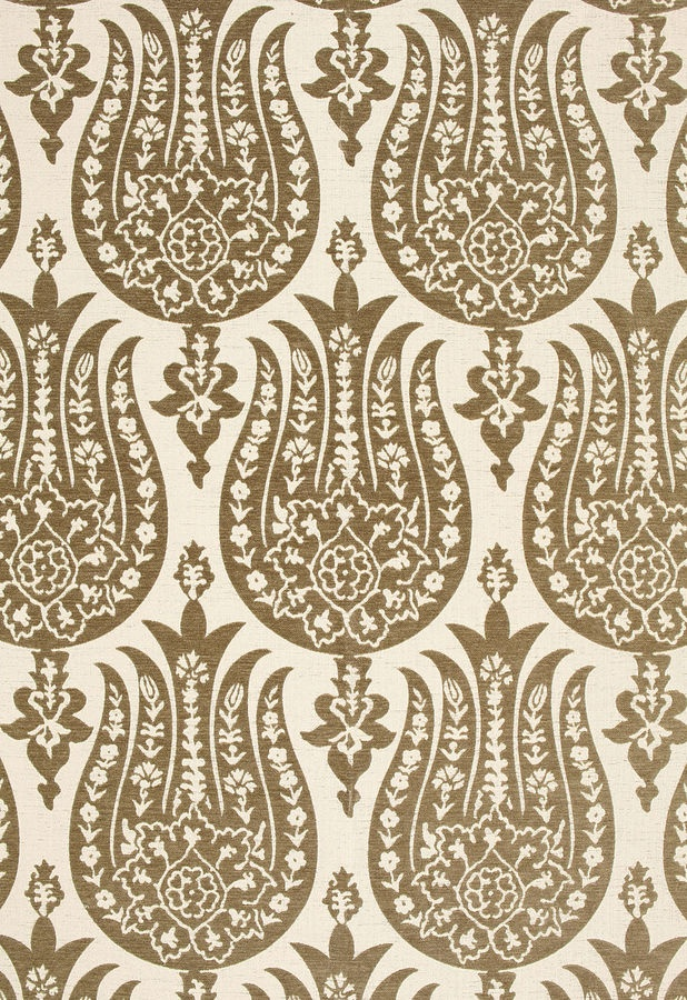 contemporary re-interpretation of ottoman tulip textile - would make lovely embroidery design