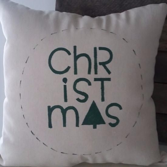 CHRISTMAS holiday pillow