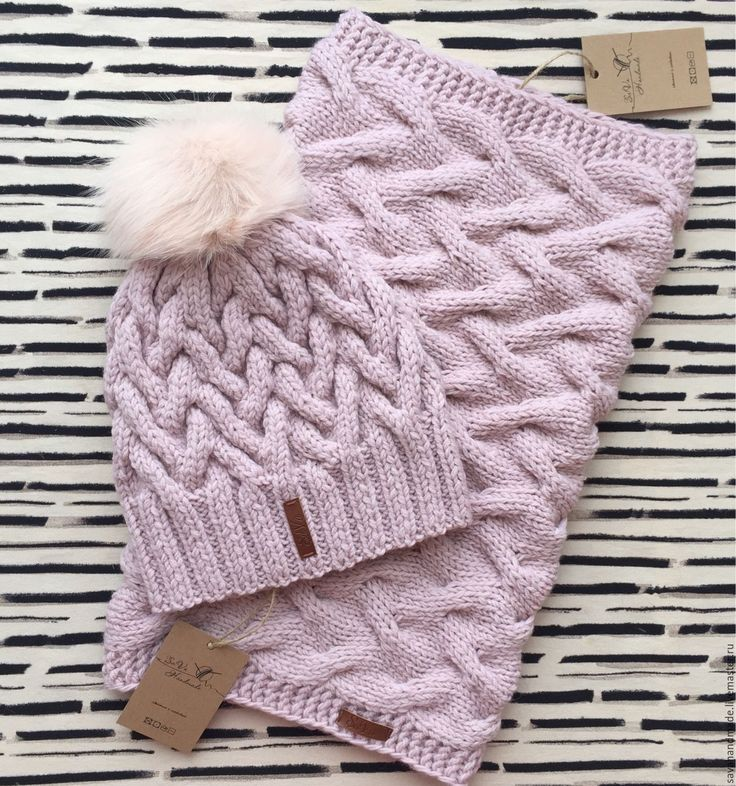 Купить Комплект шапка+снуд - шапка, шапки, снуд, снуд вязаный, снуд женский