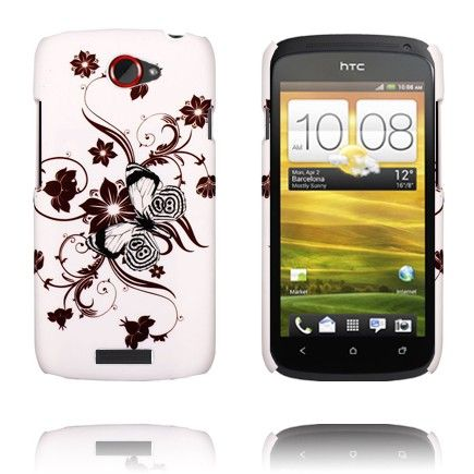Valentine (Brun Spiral Blomster) HTC One S Deksel
