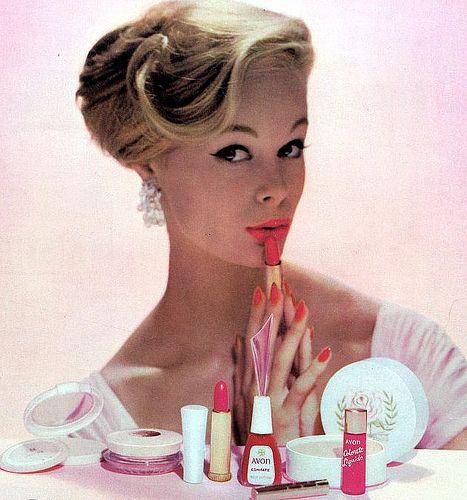 1950s Avon cosmetics advertisement.