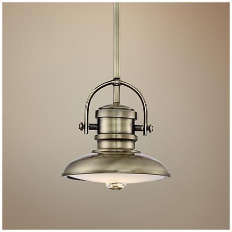 Possini Euro Camerino 8 W Antique Brass LED Mini Pendant. Industrial StyleMini ... & 95 best Mini-Pendants images on Pinterest   Euro Sloped ceiling ... azcodes.com