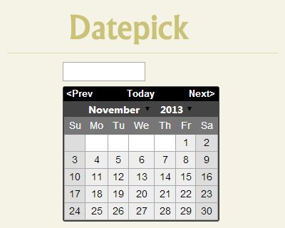 Datepick – jQuery Datepicker Plugin  #jQuery #datepicker #date #calendar #picker
