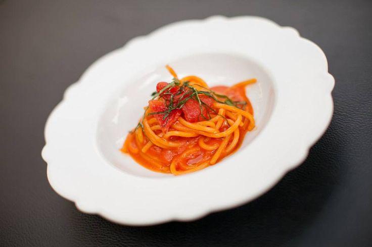 The spaghetti dish created by Chef Davide Oldani