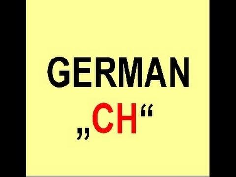 """How To Pronounce The German """"CH"""" (+playlist)"""