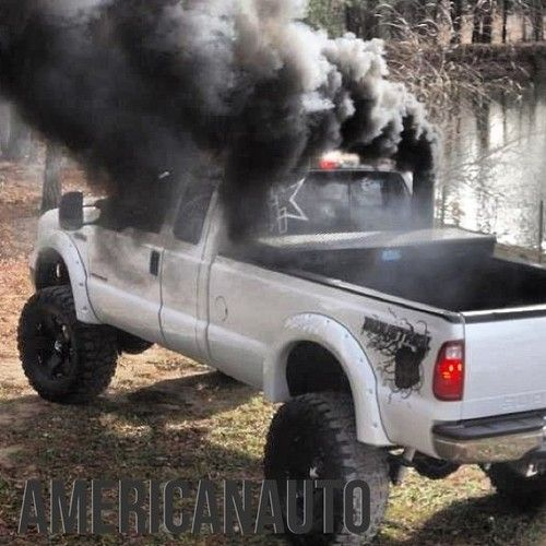 Hear the whistle see the smoke you've been passed by a Ford power stroke ☺