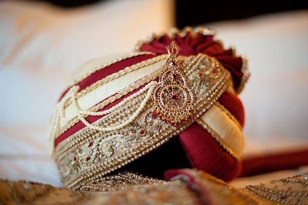 Traditional groom's hat for Indian wedding