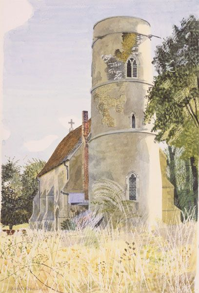 Kenneth Rowntree, SS Peter and Paul, Little Saling, Essex, Little Saling, about 1942,