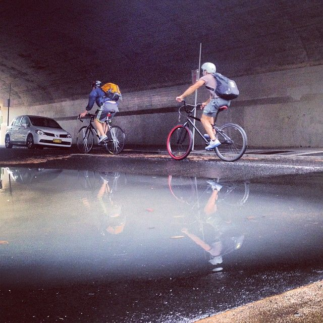 Share your wet weather riding tips #cityofsydney #welcomerain #commutebybike