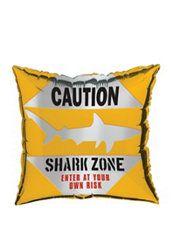 Caution Shark Balloon
