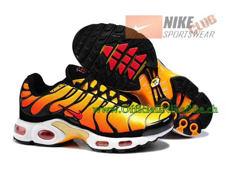 official photos f68a7 c5ea4 ... Nike Air Max Tn Requin Tuned 2014 Chaussures Nike Officiel Pour Homme  Jaune Noir ...